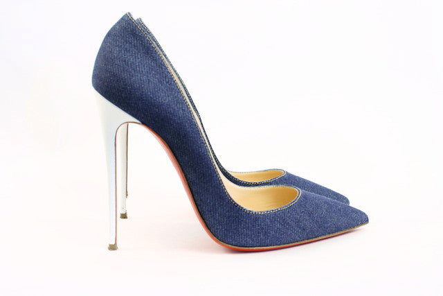 Christian Louboutin So Kate Denim Heels