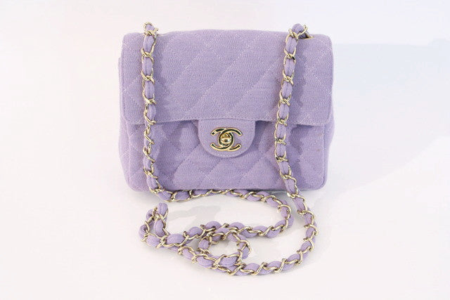 Vintage Chanel Purple Flap bag