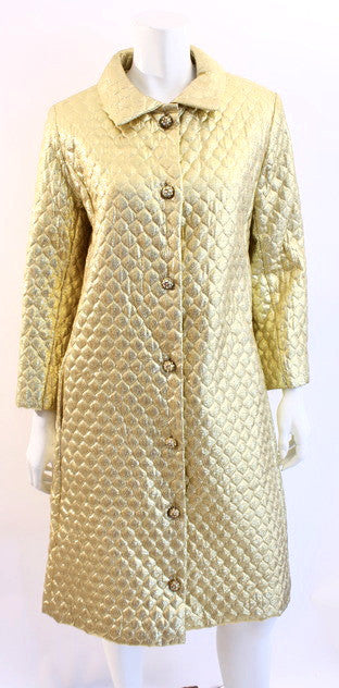 Vintage 60's Gold Quilted Coat