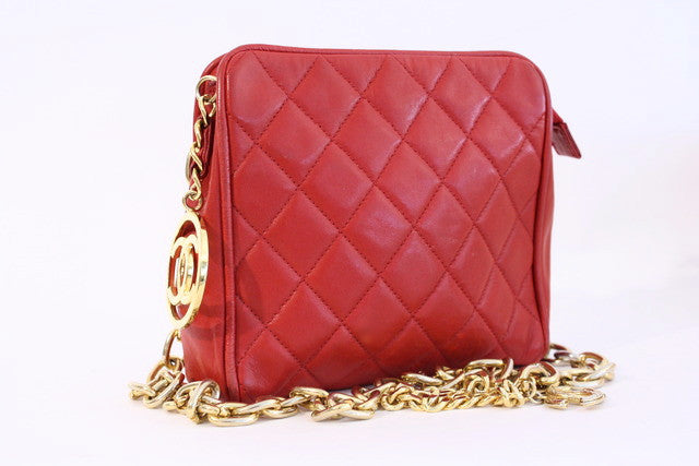 Vintage Chanel Red Bag