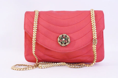 Rare Vintage CHANEL Pink Flap Bag