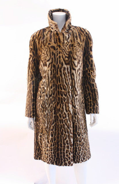 vintage 60's genuine cat fur coat