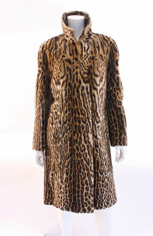 Rare Vintage 60's Genuine Cat Fur Coat