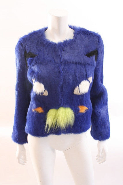 Roschterra Cat Face Rabbit Fur Coat