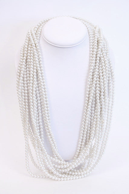 Vintage 6 Strand Pearl Necklace