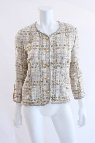 Vintage CHANEL Boucle Tweed Jacket