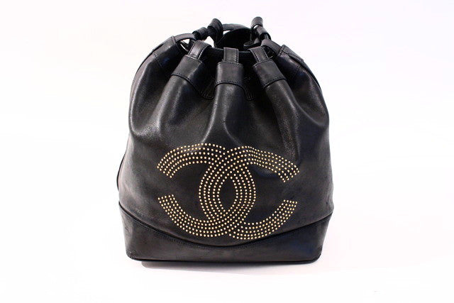 Vintage Chanel Studded Bucket Bag