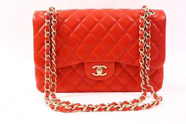 89d52e5b487f CHANEL Red Double Flap Bag at Rice and Beans Vintage