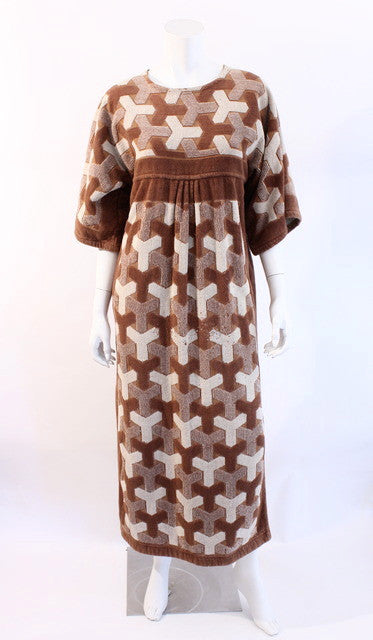 Vintage YSL Terry Caftan Dress