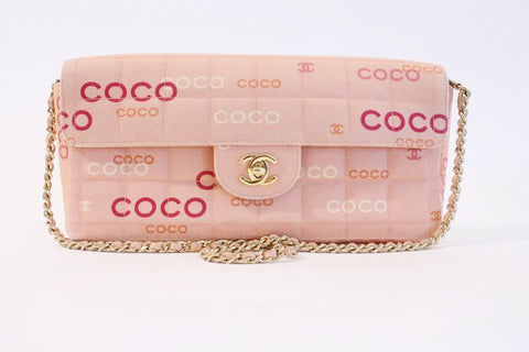 Vintage CHANEL Coco Pink Flap Bag