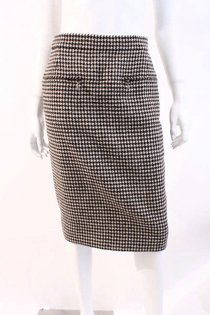 Chanel Brasserie Houndstooth Skirt