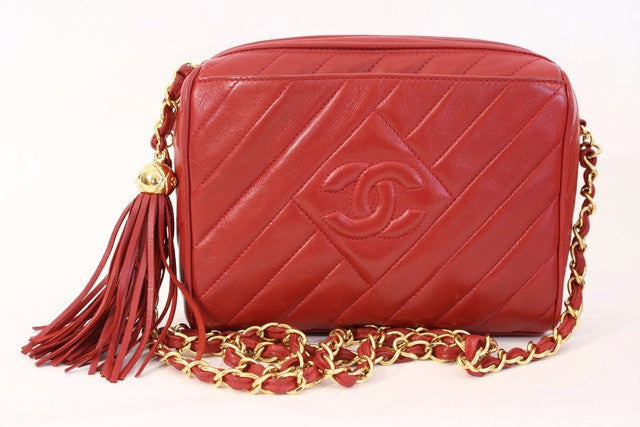 Vintage Chanel red handbag