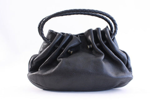 BOTTEGA VENETA Black Leather Bag ON LAYAWAY