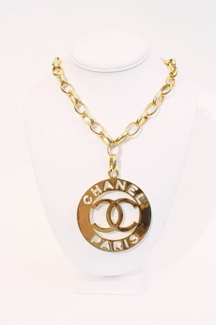 Vintage Chanel Necklace Medallion