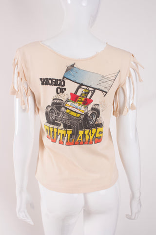 "Vintage 1982 ""World Of Outlaws"" Racing T-Shirt"