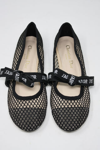 2019 Miss DIOR J'Adior Fishnet Flats  ON HOLD