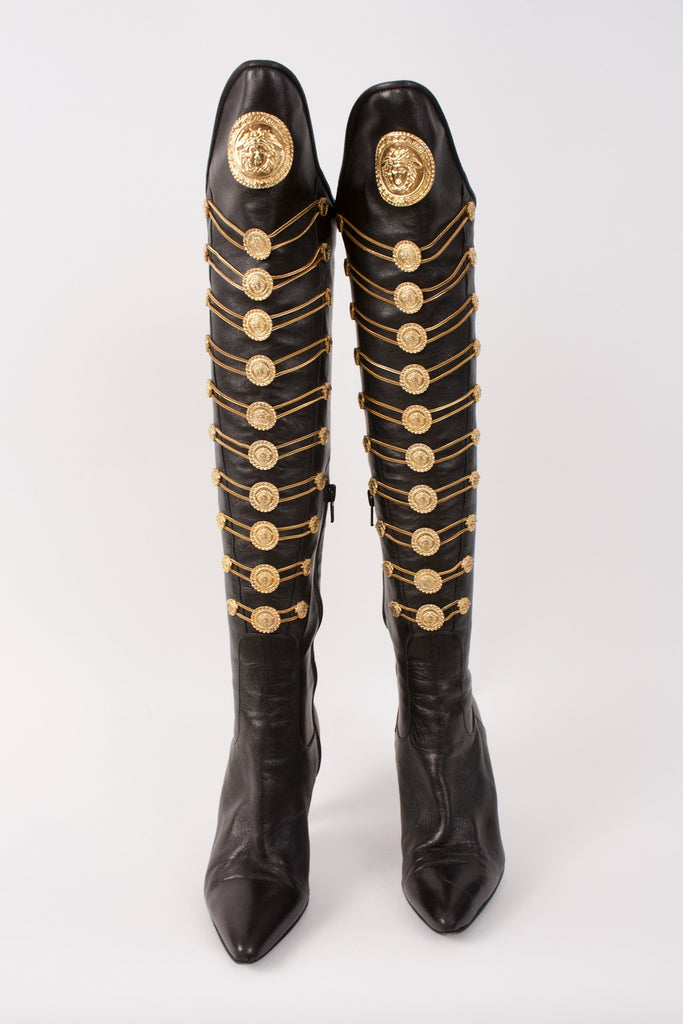 Rare Iconic GIANNI VERSACE F/W 1993 Boots