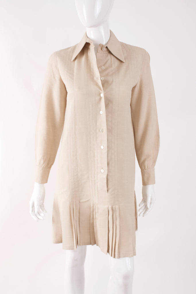 Vintage 70's ANNE KLEIN Linen Dress