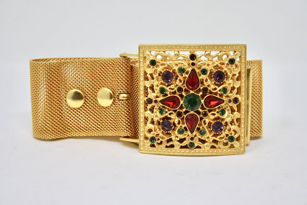 Vintage BEN-AMUN Jeweled Belt