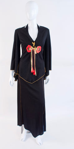 Vintage 70's 2 Piece Dress & Jacket Set