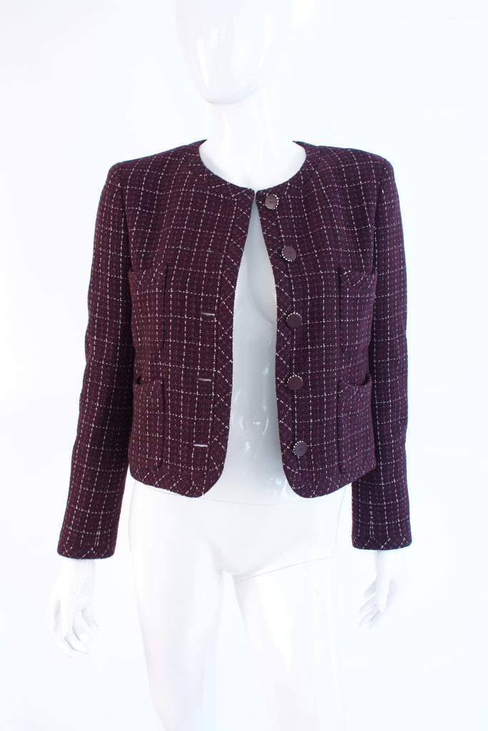 Chanel 02P Purple & Silver Jacket