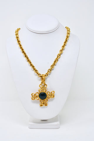 Vintage CHANEL Fall 1993 Cross Necklace  ON LAYAWAY
