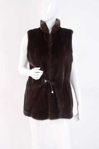 BIRGER CHRISTENSEN Black Onyx Mink Fur Vest