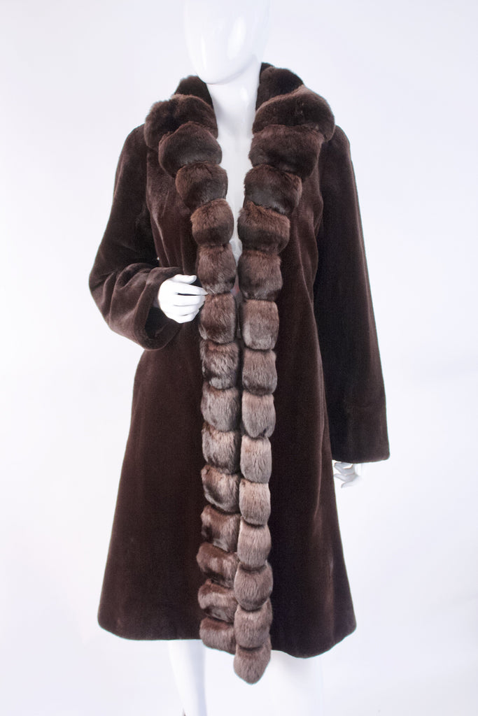 Vintage Reversible Mink & Chinchilla Fur Coat