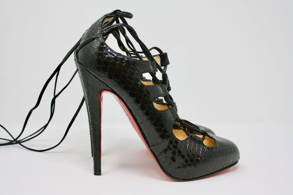 best website 0c2ee 5c0f0 New CHRISTIAN LOUBOUTIN Snakeskin Heels at Rice and Beans ...