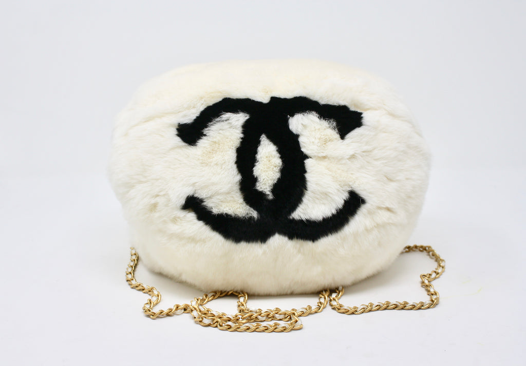 Rare Fall 2001 CHANEL Fur Muff Handbag