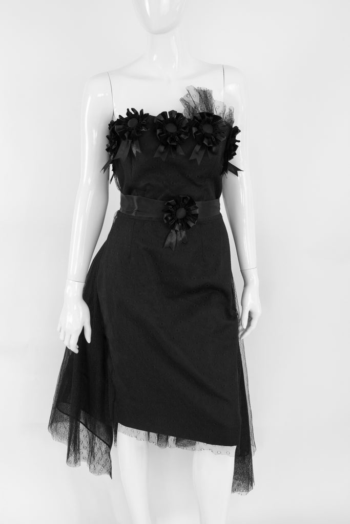 New Rare GIVENCHY Strapless Lace Dress