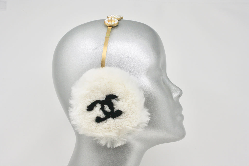 Iconic Vintage CHANEL F/W 2001 Fur Earmuffs