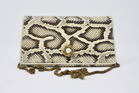 Vintage 80's CHANEL Python Snakeskin Bag or Clutch
