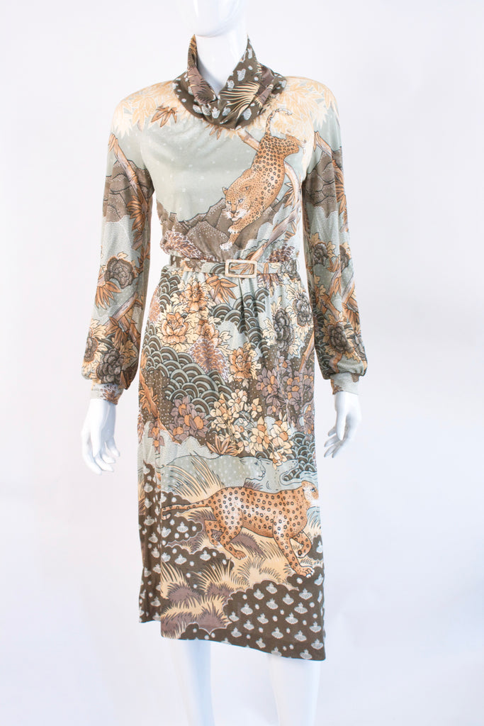 Vintage 70's MAC TAC Leopard Dress