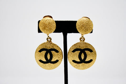 Vintage CHANEL Logo Earrings  ON LAYAWAY