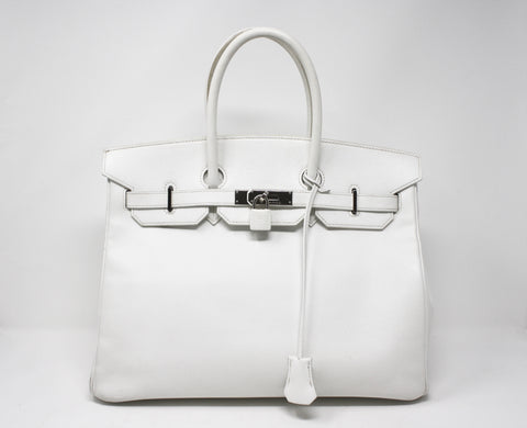 2004 HERMES White Epsom Leather Birkin Bag 35cm