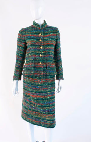 Vintage 60's CHANEL Haute Couture Jacket Skirt Suit