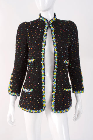 Rare Vintage CHANEL Beaded Boucle Jacket