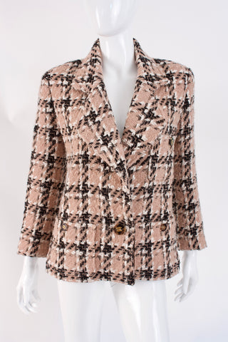 Vintage CHANEL Tweed Jacket With Tortoise Buttons