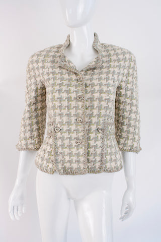 CHANEL 08P Houndstooth Jacket