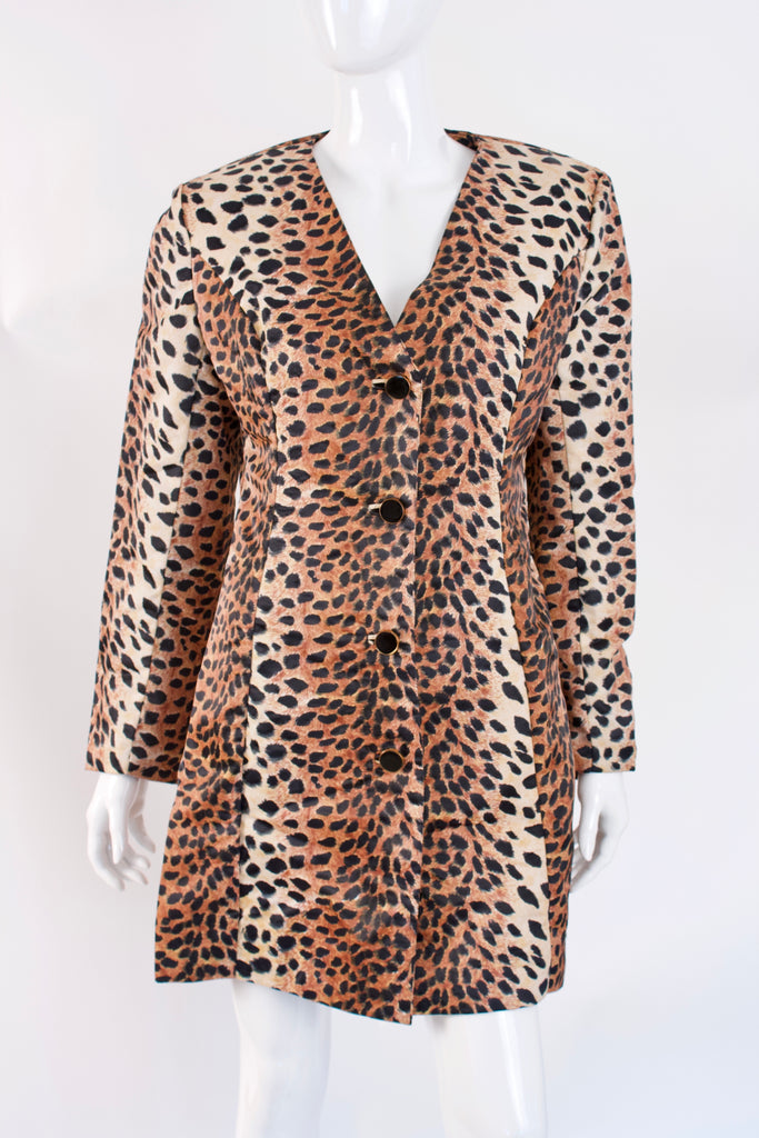 Vintage 60's LILLI ANN Leopard Dress or Coat