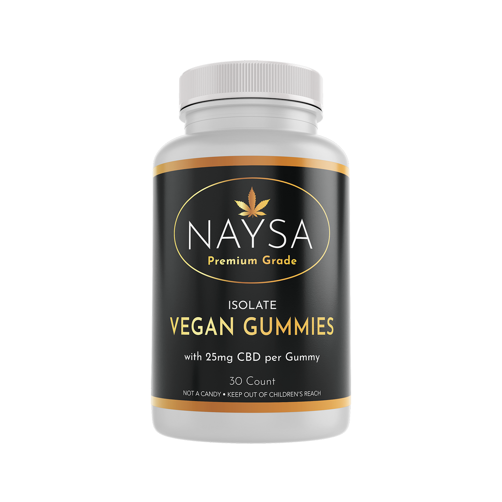 Vegan CBD Isolate Gummies - 30 count bottle