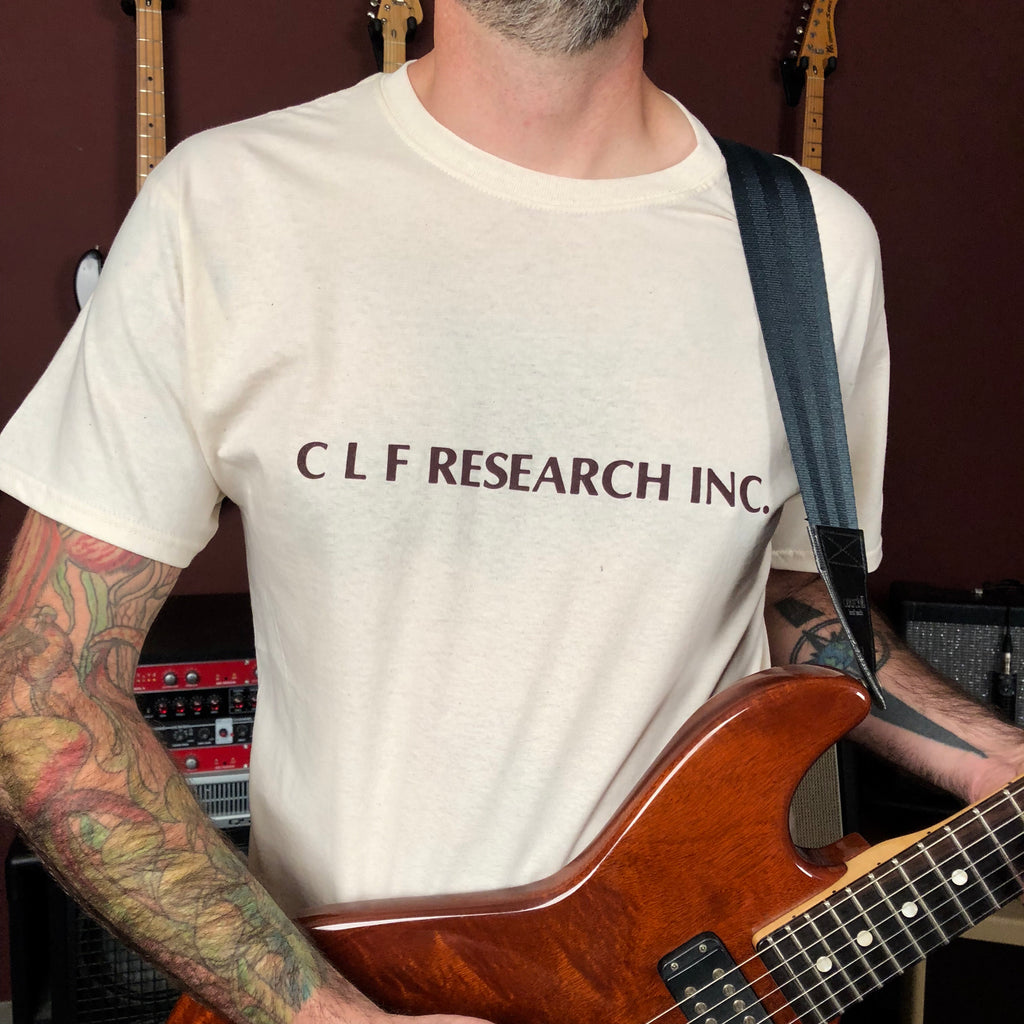 Apparel - CLF Research '70s logo T-Shirt Beige