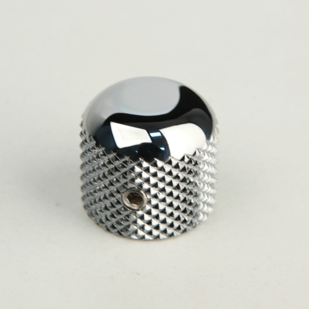Knob - Knurled - Solid Shaft - Dome Top