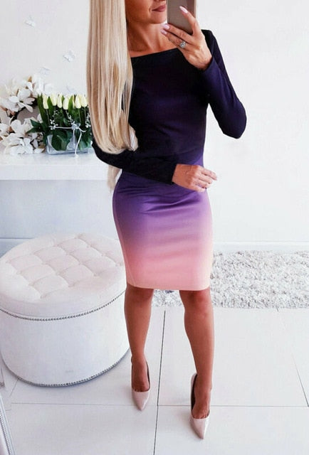 Ombre Bodycon Dress