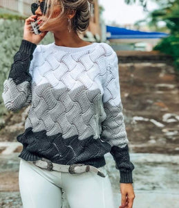 Knitted Colorblock Sweater