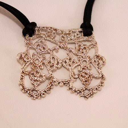 Silver Crochet Pendant Necklace