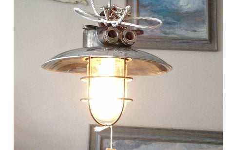 SOLD - Industrial pendant lamp