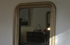 French GREY antique mirror -  SOLD