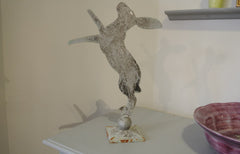 Iron sculpture - Boxing March Hare
